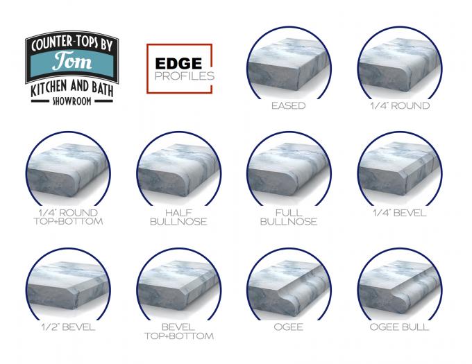 Quartz Edge Profiles Counter Tops By Tom